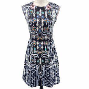 Peter Pilotto Silk Pinball Abstract Printed Dress